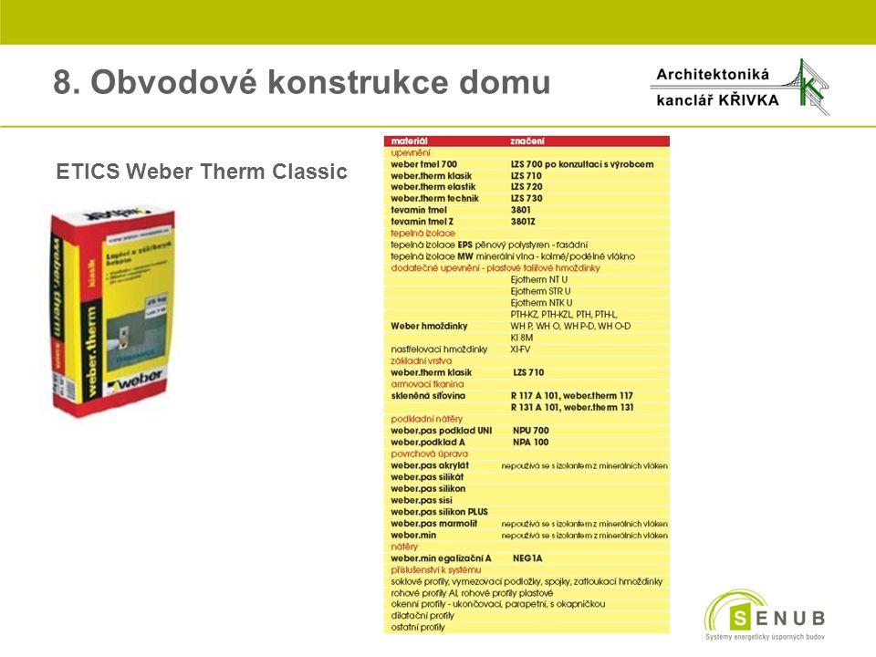 8. Obvodové konstrukce domu ETICS Weber Therm Classic