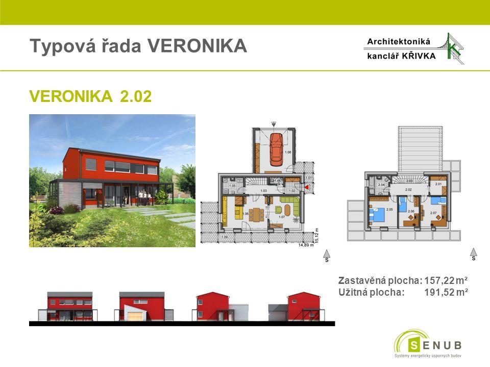 Typová řada VERONIKA oVERONIKA 2.02 Zastavěná plocha: 157,22 m² Užitná plocha: 191,52 m²