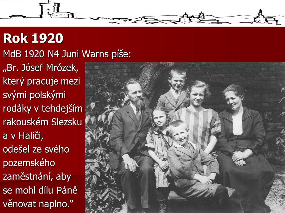 """Rok 1920 MdB 1920 N4 Juni Warns píše: """"Br."""