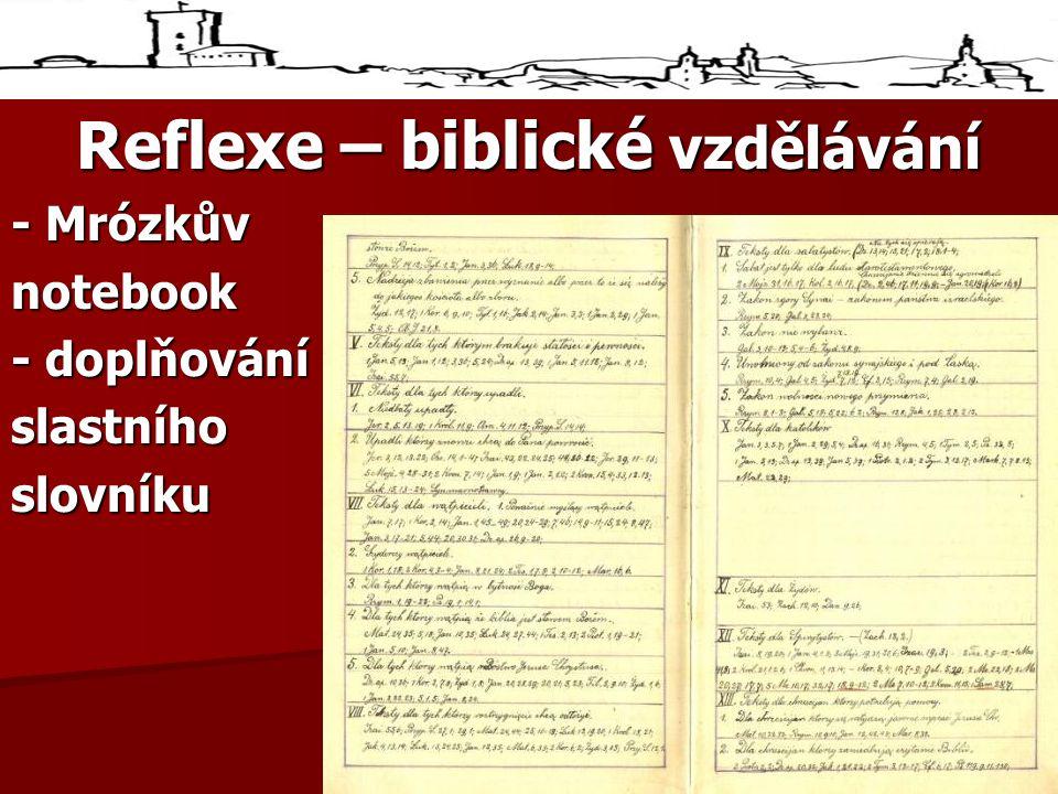 Reflexe – biblické vzdělávání - Mrózkův notebook - doplňování slastníhoslovníku