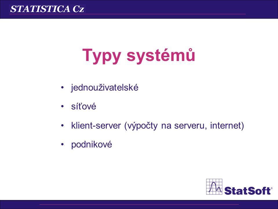 Dokumenty STATISTICA • Jednotlivá okna s číselnými výsledky či grafy • Pracovní sešit (včetně dokumentů MS Office) • Protokol • Ukládání protokolů do.