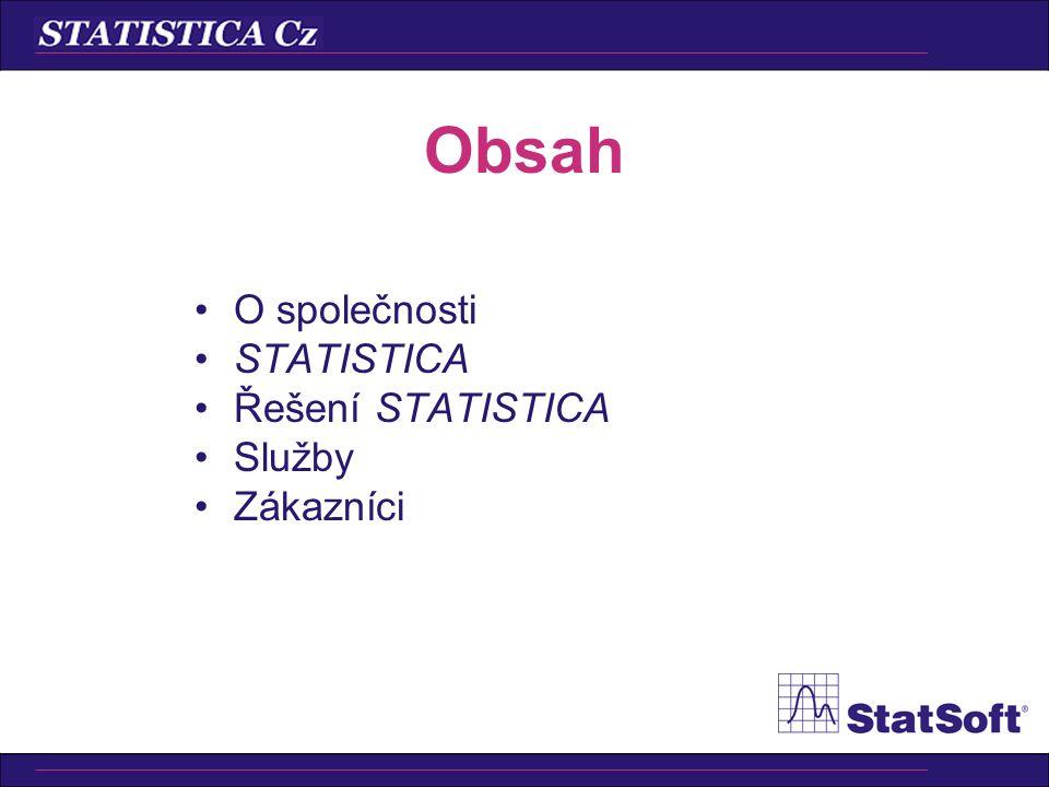 •Shewhartovy regulační diagramy –měřením (X-průměr, R, …) –srovnáváním (C, U, Np, P) •Indexy způsobilosti (Cp, Cpk, …) •Indexy výkonnosti (Pp, Ppk, …) •Popisné statistiky •Testy nenáhodných seskupení •Operační charakteristiky STATISTICA Diagramy pro řízení jakosti Cz