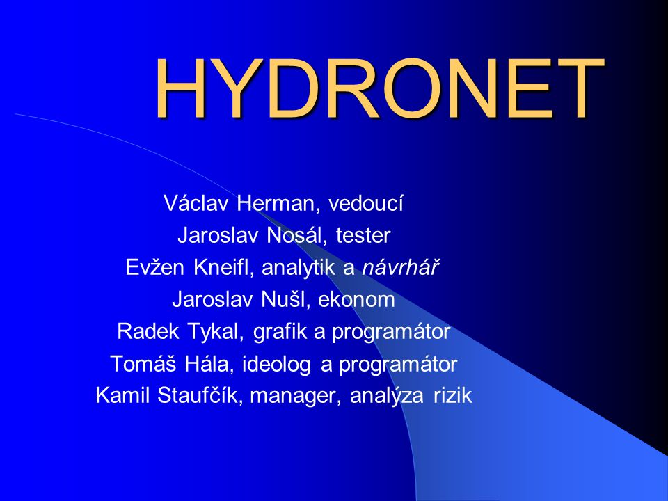  Co je to Hydronet.