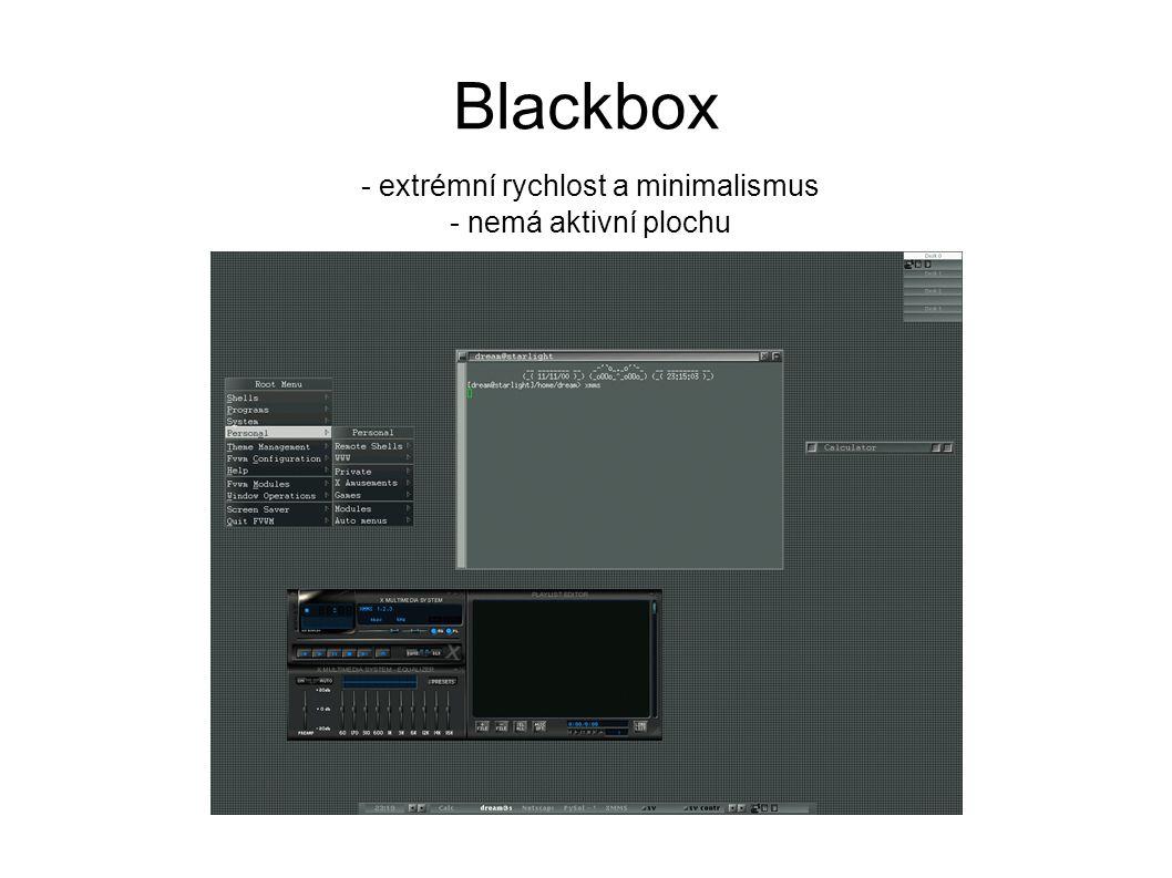 Blackbox - extrémní rychlost a minimalismus - nemá aktivní plochu