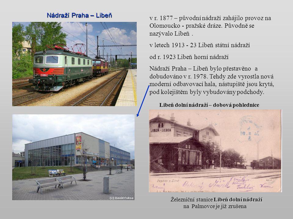 Nádraží Praha – Vršovice Provoz nádraží na bývalé dráze Františka Josefa byl zahájen v r. 1880. V r. 1882 byl odsud zahájen provoz na trati do Modřan,