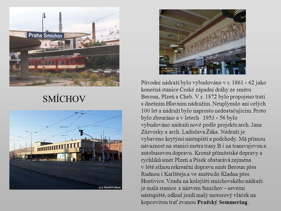 v r. 1877 – původní nádraží zahájilo provoz na Olomoucko - pražské dráze. Původně se nazývalo Libeň. v letech 1913 - 23 Libeň státní nádraží od r. 192