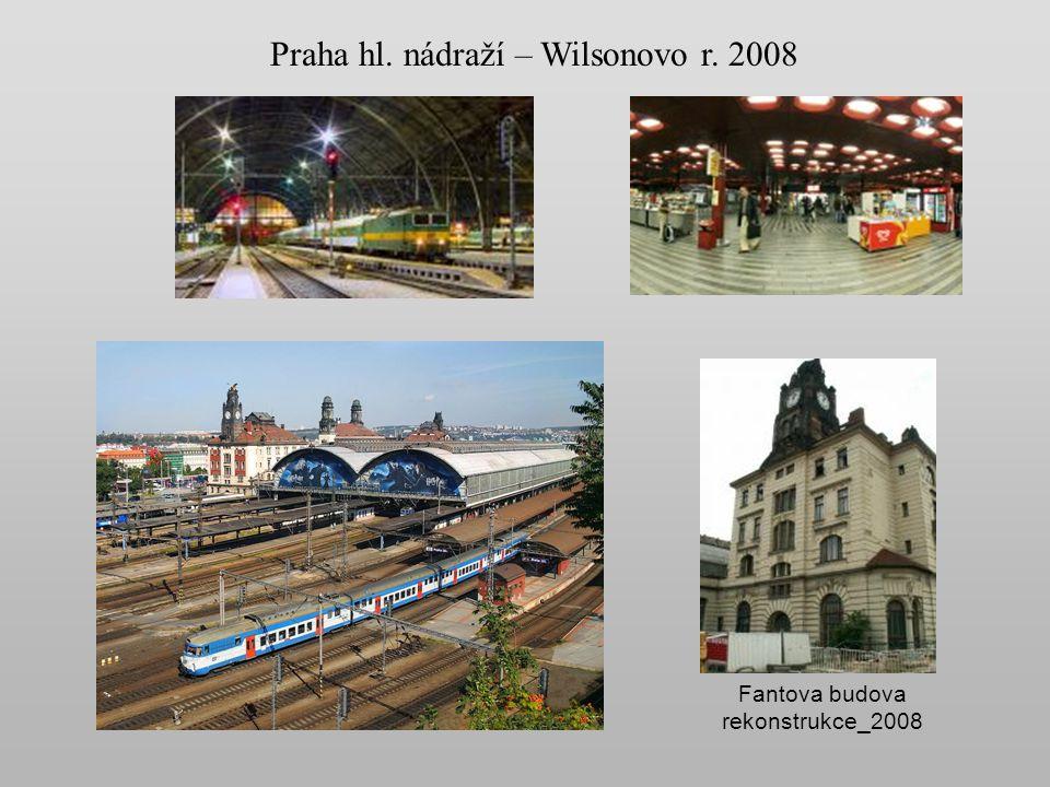 Názvy nádraží Od roku 1871 se nádraží jmenovalo Praha nádraží Františka Josefa I. S příchodem republiky bylo nádraží přejmenováno v r. 1919 na Praha W