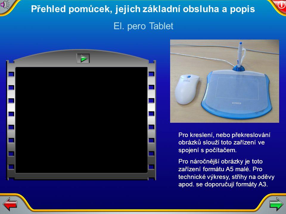 Pro kreslení, nebo překreslování obrázků slouží toto zařízení ve spojení s počítačem.