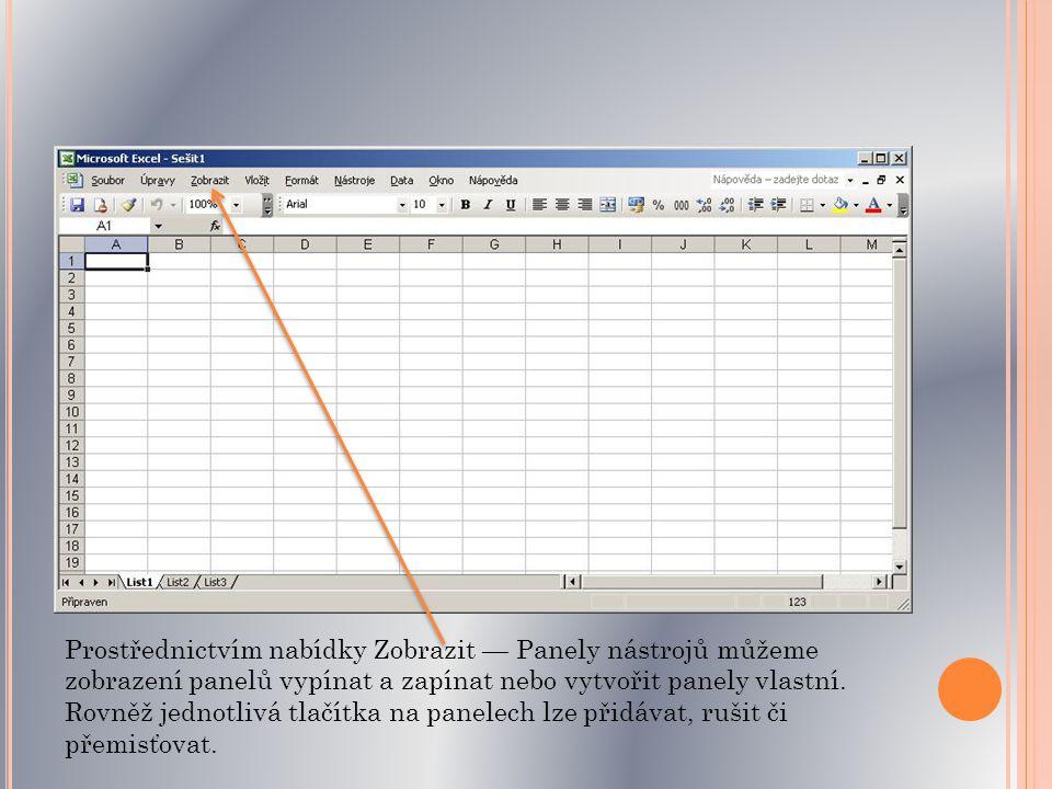 S EŠIT, LIST, TABULKA, BUŇKA dokument,který vytváříme programem Excel, je označován jako sešit.