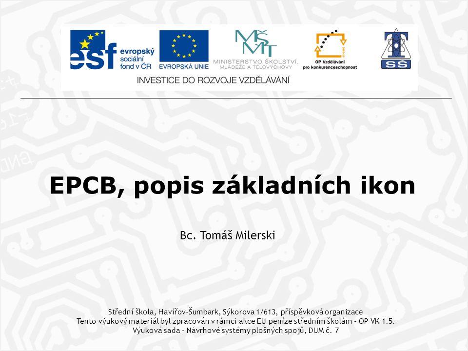 EPCB, popis základních ikon Bc.
