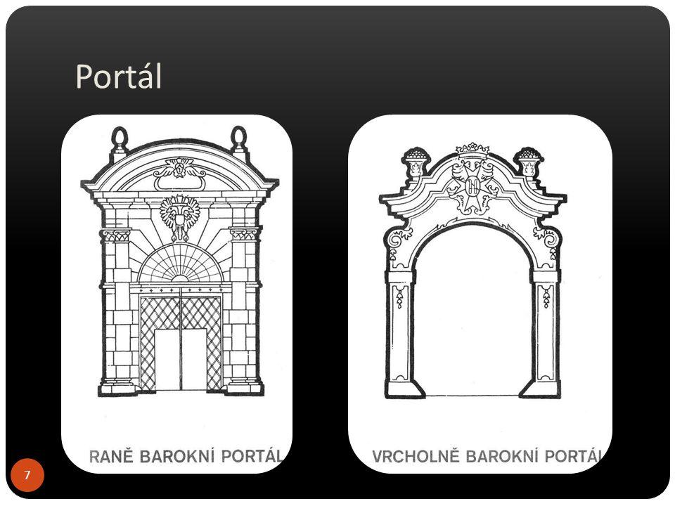 Raně barokní portálPozdně barokní portál 8