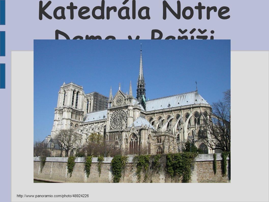 Katedrála Notre Dame v Paříži http://www.panoramio.com/photo/48924226