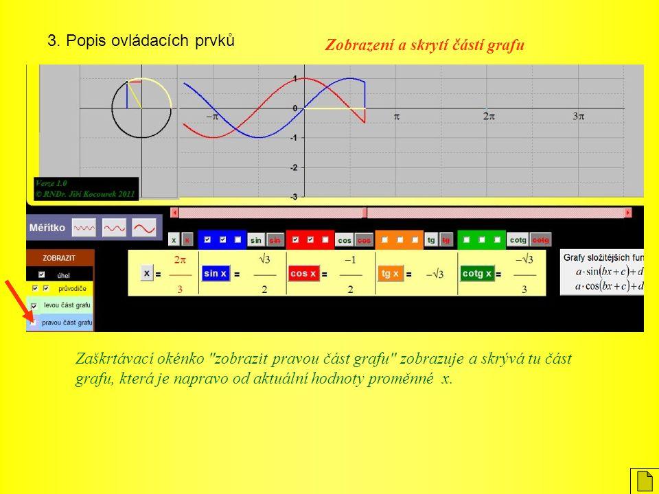 3. Popis ovládacích prvků Zaškrtávací okénko