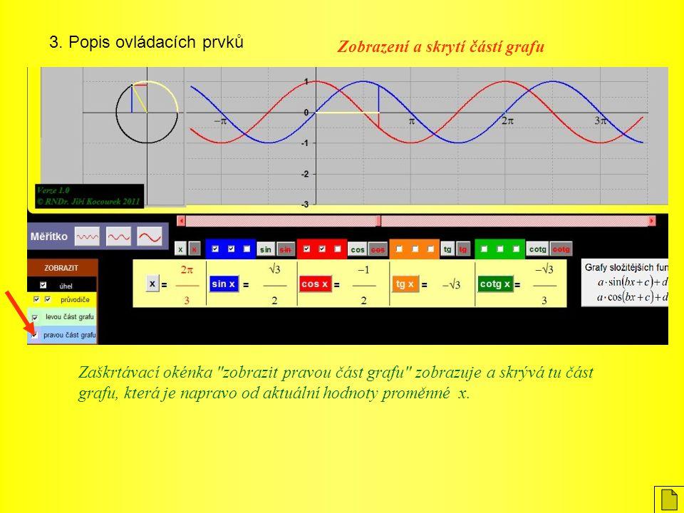 3. Popis ovládacích prvků Zaškrtávací okénka