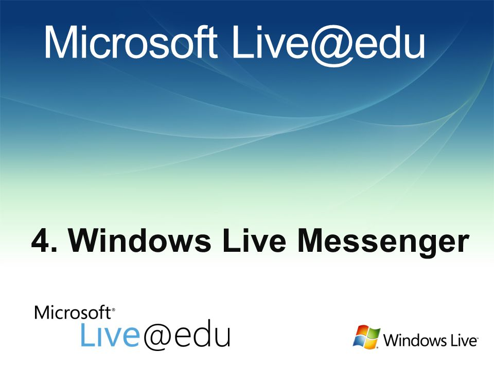 Microsoft Live@edu 4. Windows Live Messenger