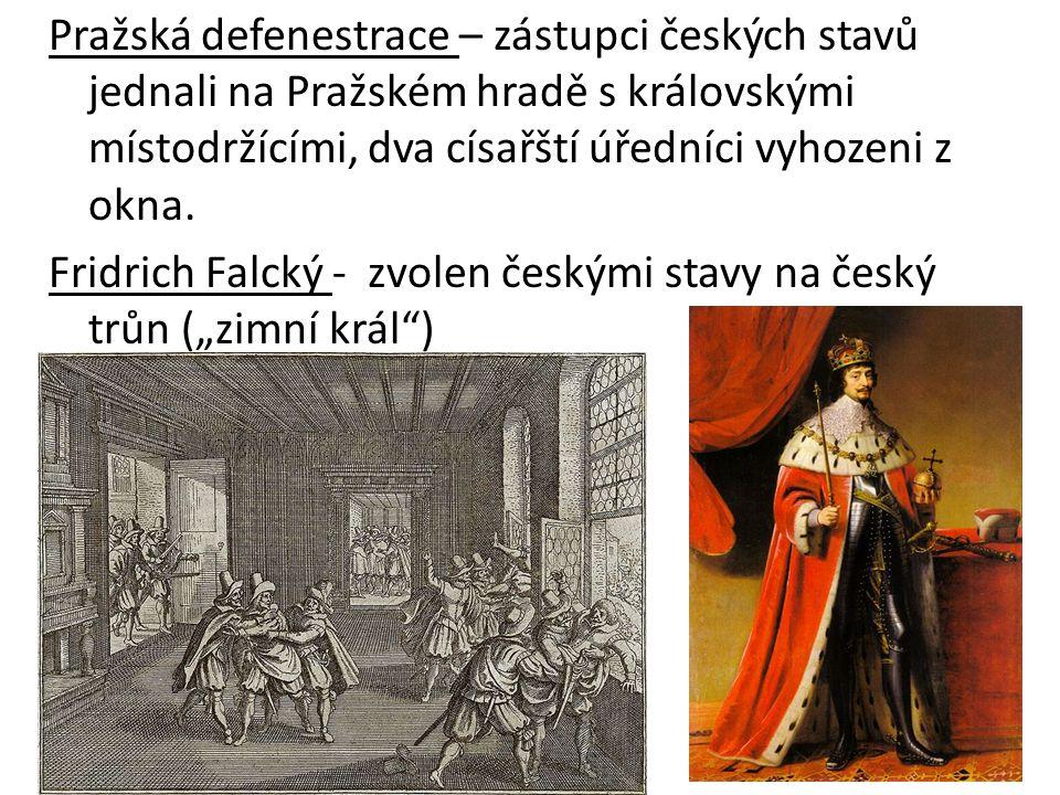 Pražská defenestrace – zástupci českých stavů jednali na Pražském hradě s královskými místodržícími, dva císařští úředníci vyhozeni z okna. Fridrich F