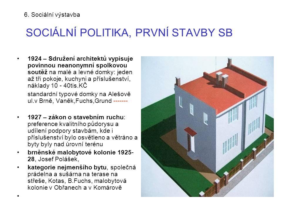 6.Sociální výstavba PRVNÍ STAVBY SB- standardní typ.domky v Brně, Alešova ul.