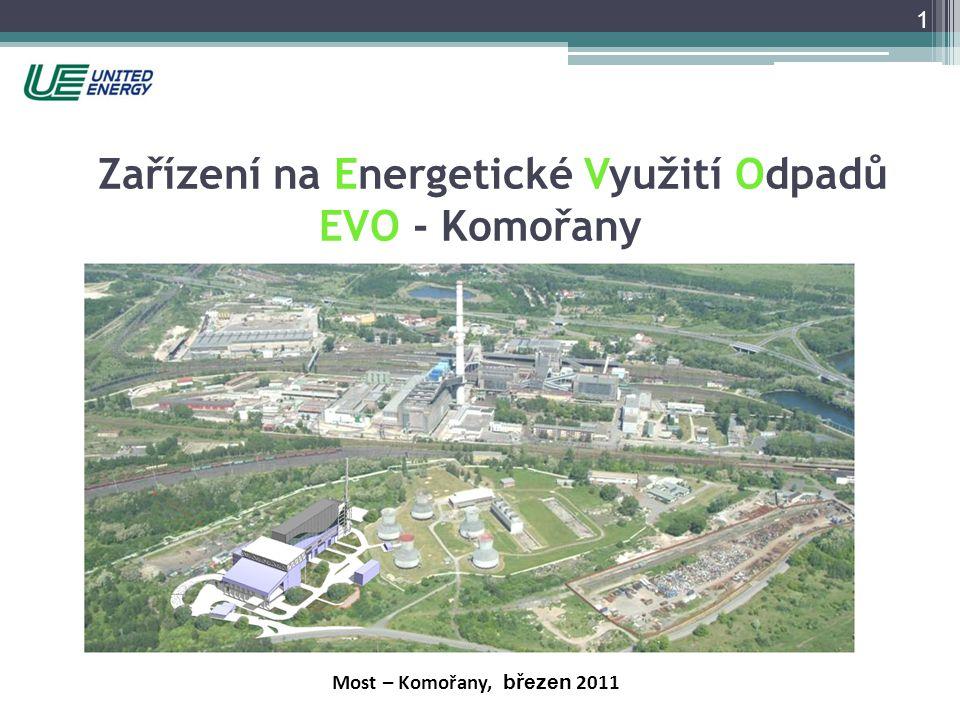 1 Most – Komořany, březen 2011 Zařízení na Energetické Využití Odpadů EVO - Komořany