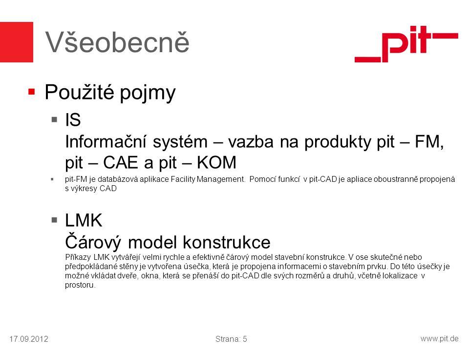 www.pit.de  Použité pojmy  IS Informační systém – vazba na produkty pit – FM, pit – CAE a pit – KOM  pit-FM je databázová aplikace Facility Managem