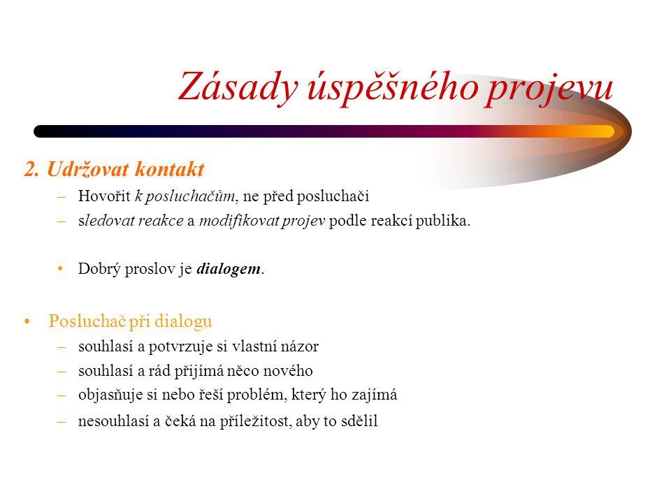 Zásady úspěšného projevu 2.