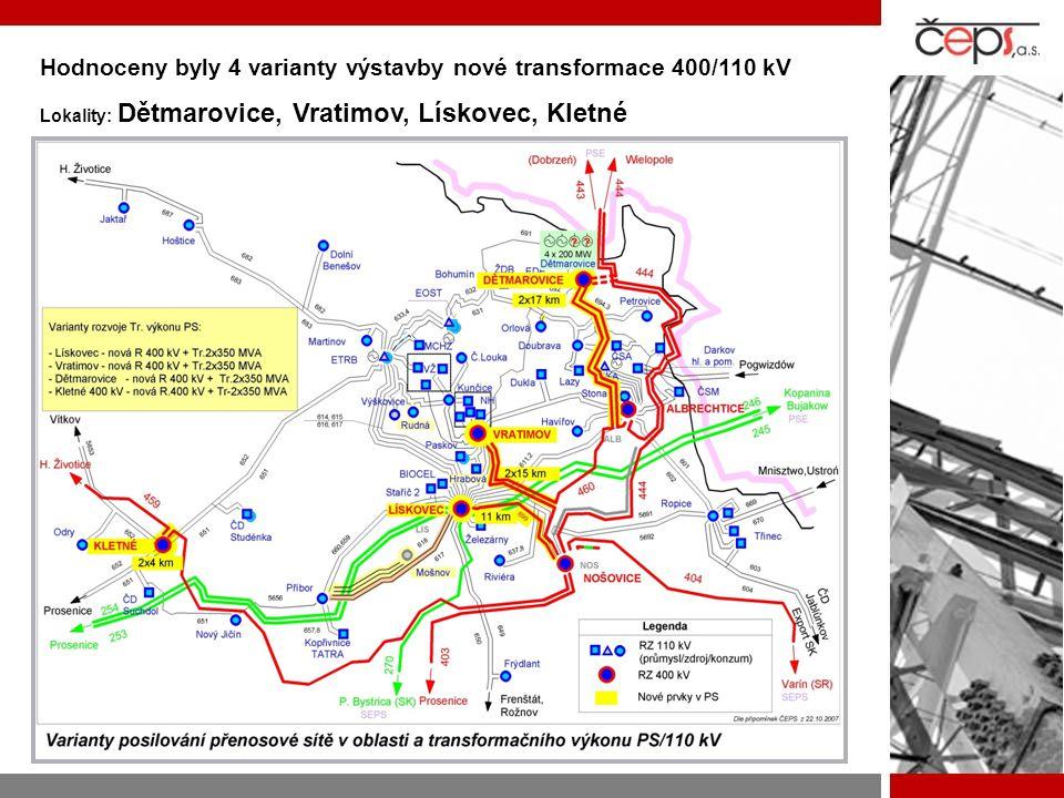  Vedle výstavby nové transformační stanice Kletné bude nutné v souvislosti se zajištěním nárůstu spotřeby v této oblasti realizovat následující rozvojové akce: Výstavbu nového vedení 400 kV Krasíkov – H.