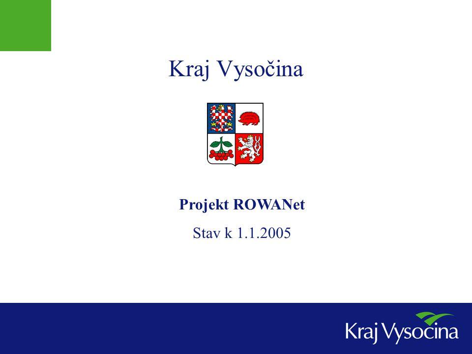 Základní informace o projektu  Hlavní cíle projektu  Výstavba páteřní optické vysokokapacitní telekomunikační sítě v kraji Vysočina vlastněné samosprávou  Podpora telekomunikačního trhu, řešení tržního selhání v některých regionech  Výstavba privátní datové sítě veřejné správy v kraji  Podpora místních projektů veřejné správy (MAN)  Podpora akademických a výzkumných projektů