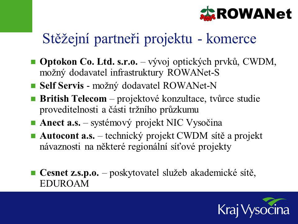 Stěžejní partneři projektu - komerce  Optokon Co.