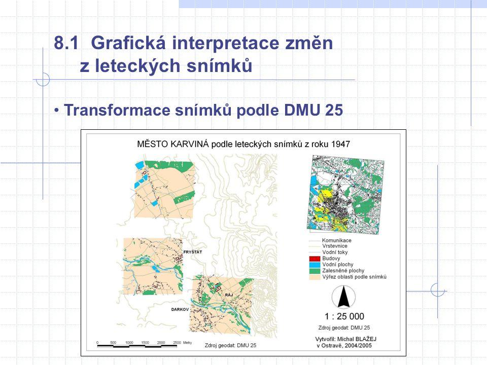 8.1 Grafická interpretace změn z leteckých snímků • Transformace snímků podle DMU 25