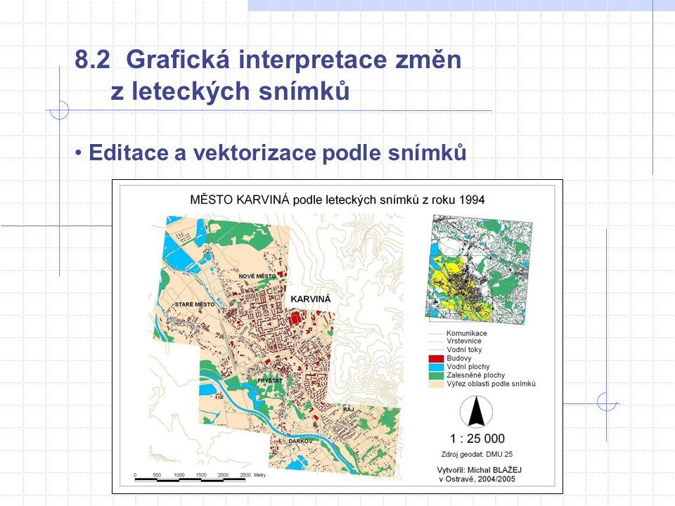 • Editace a vektorizace podle snímků 8.2 Grafická interpretace změn z leteckých snímků