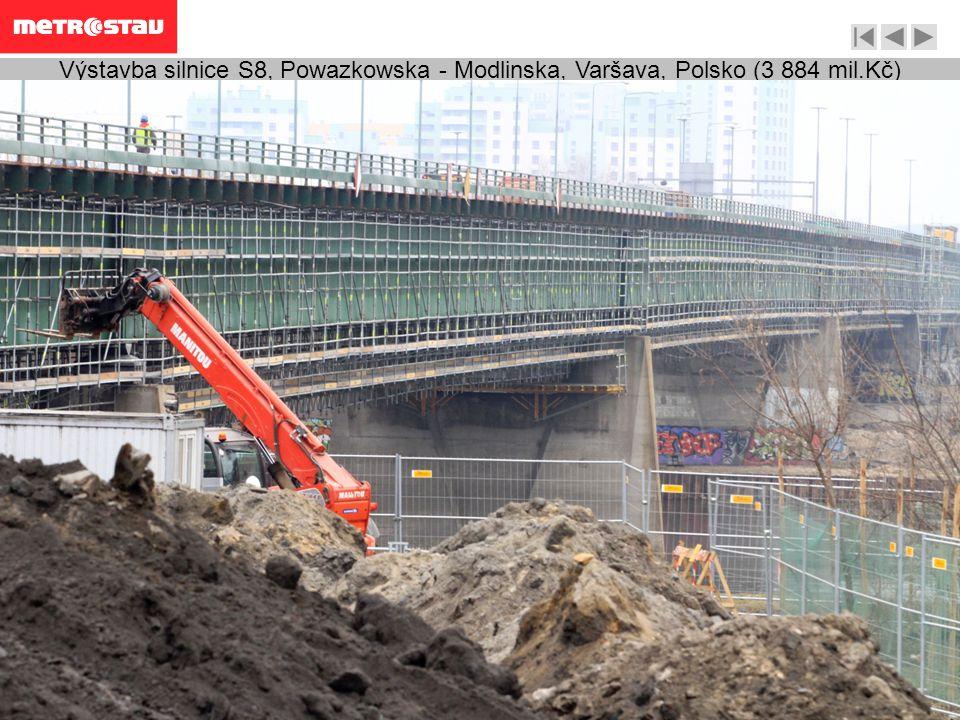 Výstavba silnice S8, Powazkowska - Modlinska, Varšava, Polsko (3 884 mil.Kč)