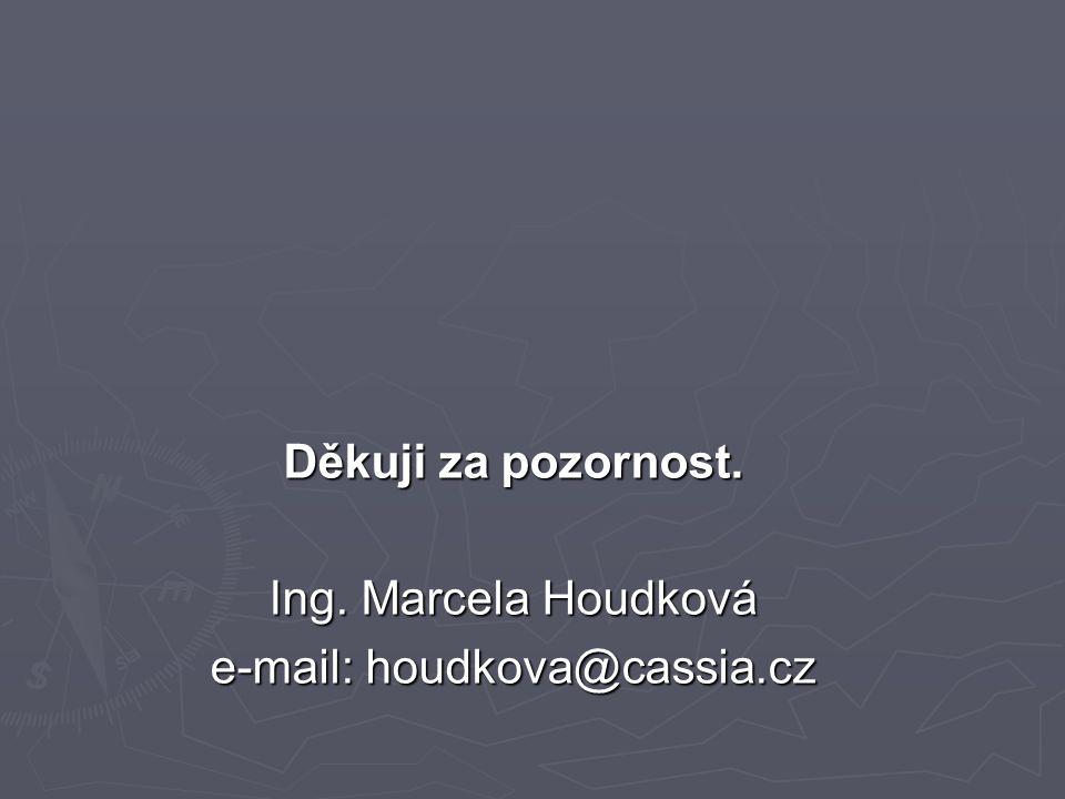 Děkuji za pozornost. Ing. Marcela Houdková e-mail: houdkova@cassia.cz