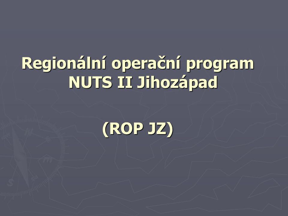 Regionální operační program NUTS II Jihozápad (ROP JZ)
