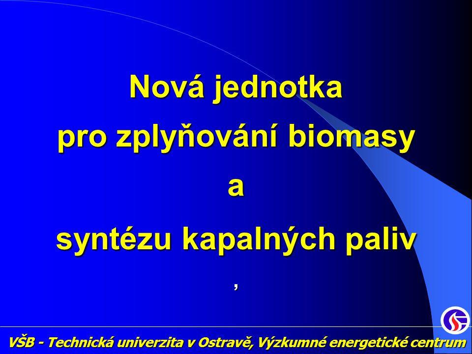 Nová jednotka pro zplyňování biomasy a syntézu kapalných paliv, VŠB - Technická univerzita v Ostravě, Výzkumné energetické centrum
