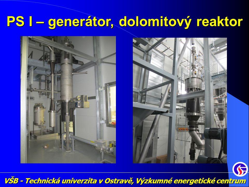 VŠB - Technická univerzita v Ostravě, Výzkumné energetické centrum PS I – generátor, dolomitový reaktor