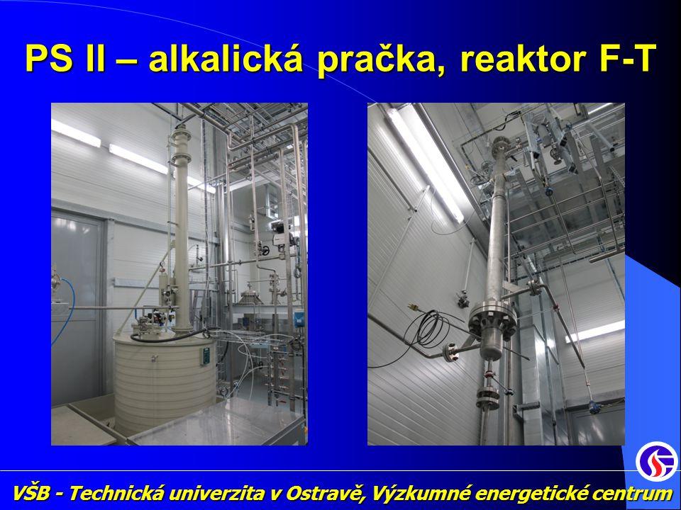 VŠB - Technická univerzita v Ostravě, Výzkumné energetické centrum PS II – alkalická pračka, reaktor F-T
