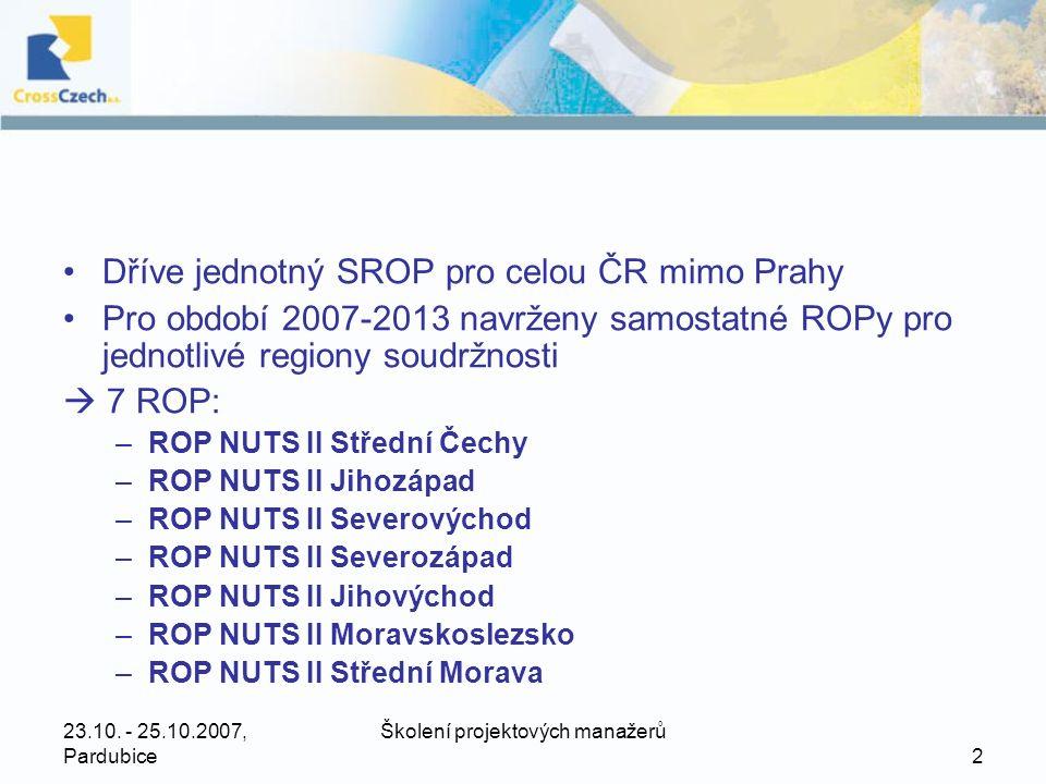 23.10. - 25.10.2007, Pardubice Školení projektových manažerů 3