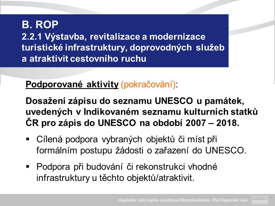 Regionální rada regionu soudržnosti Moravskoslezsko, Úřad Regionální rady B.