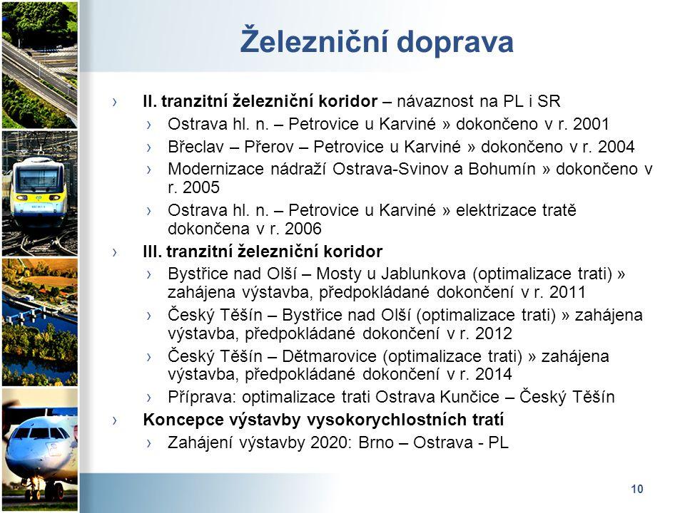 10 Železniční doprava › II. tranzitní železniční koridor – návaznost na PL i SR ›Ostrava hl.