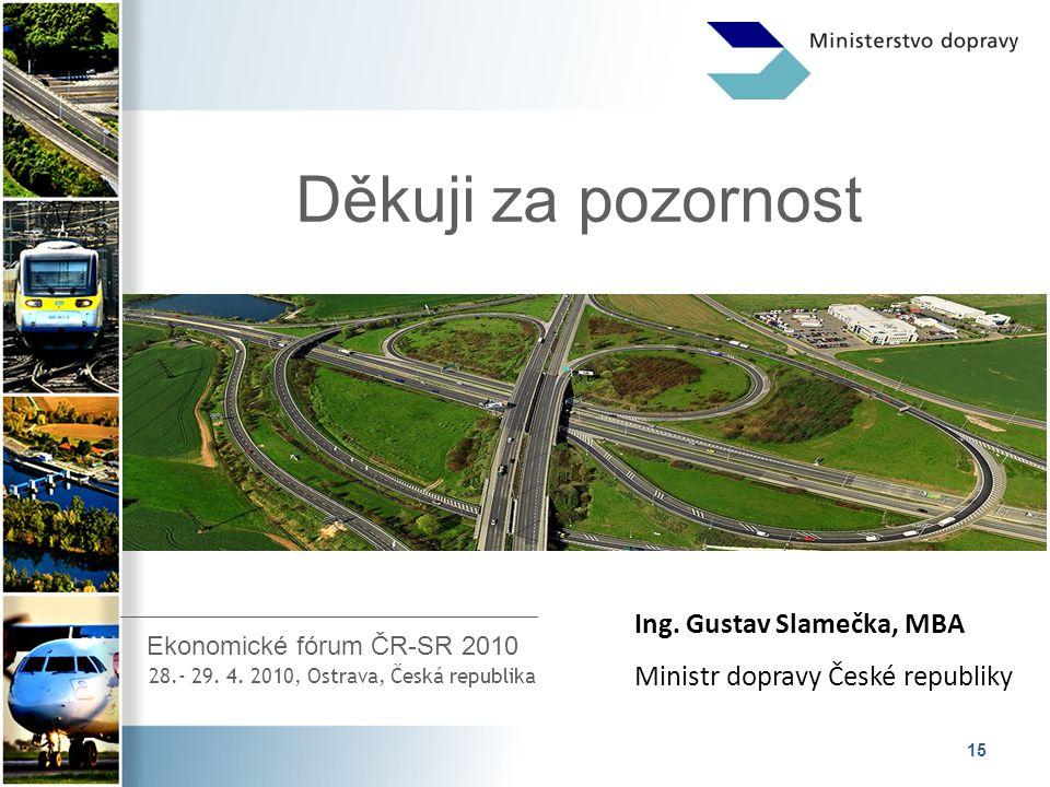 15 Děkuji za pozornost Ekonomické fórum ČR-SR 2010 28.- 29.