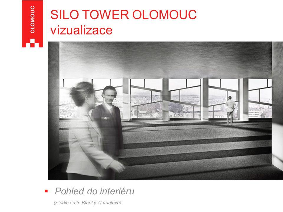  Pohled do interiéru (Studie arch. Blanky Zlamalové) SILO TOWER OLOMOUC vizualizace