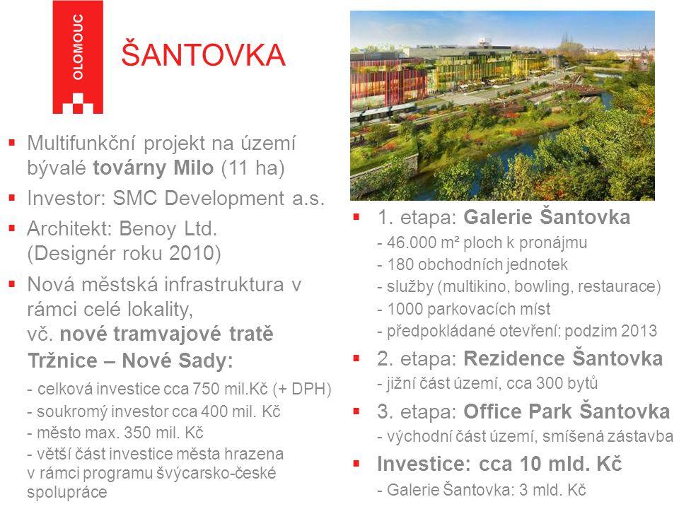  Multifunkční projekt na území bývalé továrny Milo (11 ha)  Investor: SMC Development a.s.