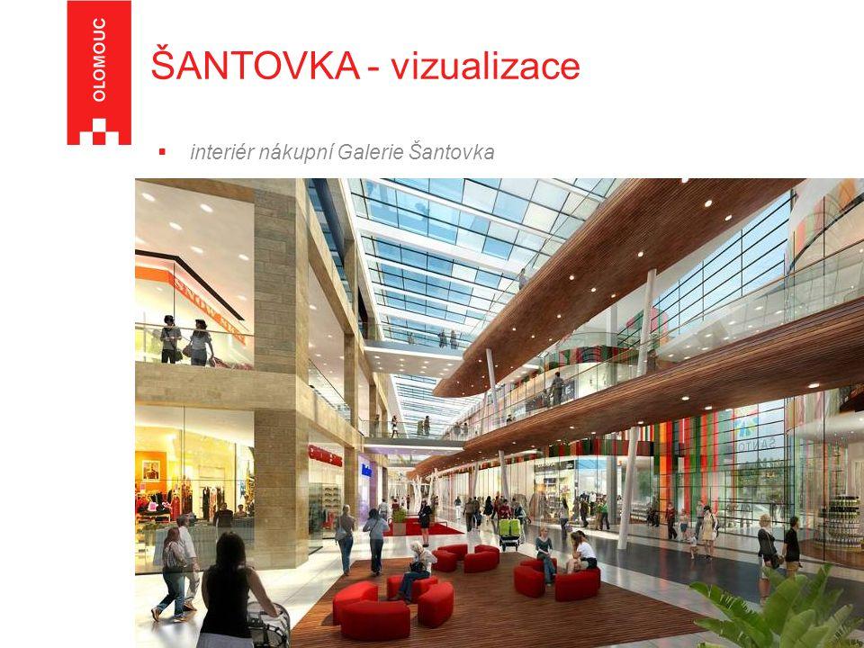  interiér nákupní Galerie Šantovka ŠANTOVKA - vizualizace