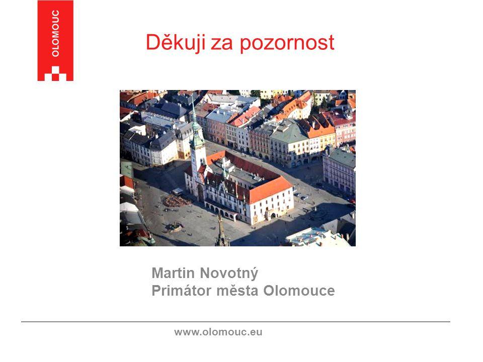Děkuji za pozornost www.olomouc.eu Martin Novotný Primátor města Olomouce