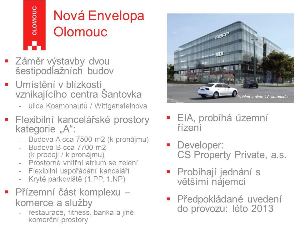 Nová Envelopa Olomouc (vizualizace) pohled z ulice Wittgensteinova