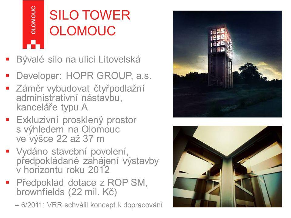  Bývalé silo na ulici Litovelská  Developer: HOPR GROUP, a.s.