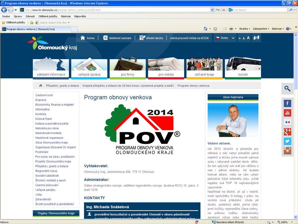 Aktivity CSPV Schváleny dva semináře: • Koncepční příprava OK na dotační politiku EU • Koncepční příprava OK na dotační politiku EU, ČR a OK pro období 2014+ - integrované rozvojové strategie obcí, mikroregionů, MAS, kraje • 2 vzdělávací workshopy (květen a září 2014) • Společná zemědělská politika EU • Společná zemědělská politika EU ve vztahu k rozvoji venkova a uplatnění metody LEADER, dopad na aktéry rozvoje venkova, příklady dobré praxe • 2 vzdělávací workshopy (březen a listopad 2014)