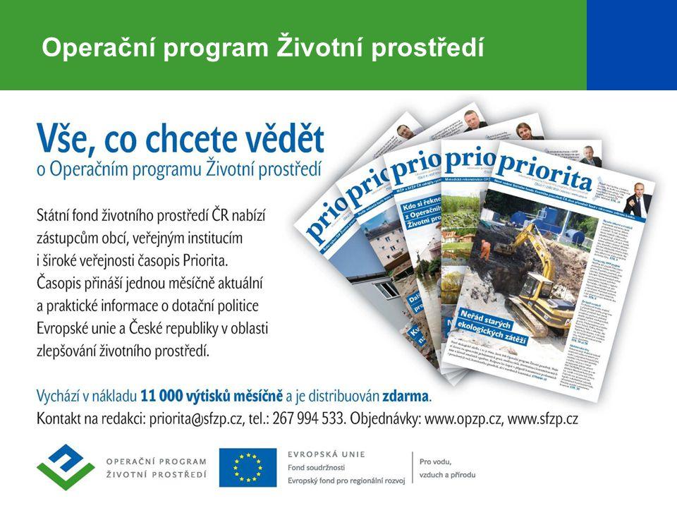 32 Operační program Životní prostředí