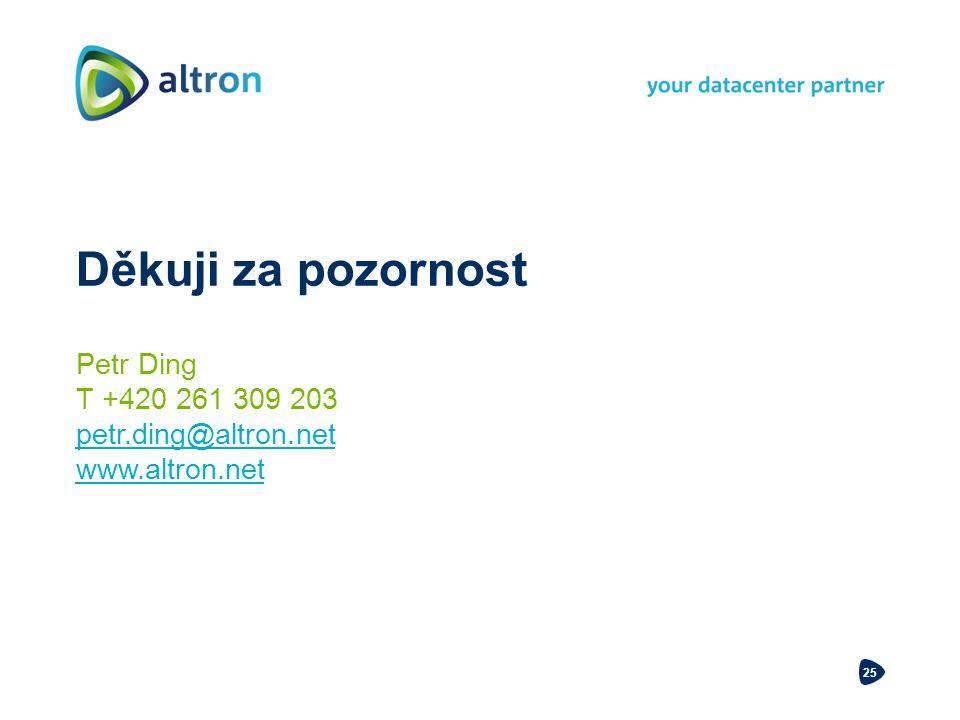 25 Děkuji za pozornost Petr Ding T +420 261 309 203 petr.ding@altron.net www.altron.net