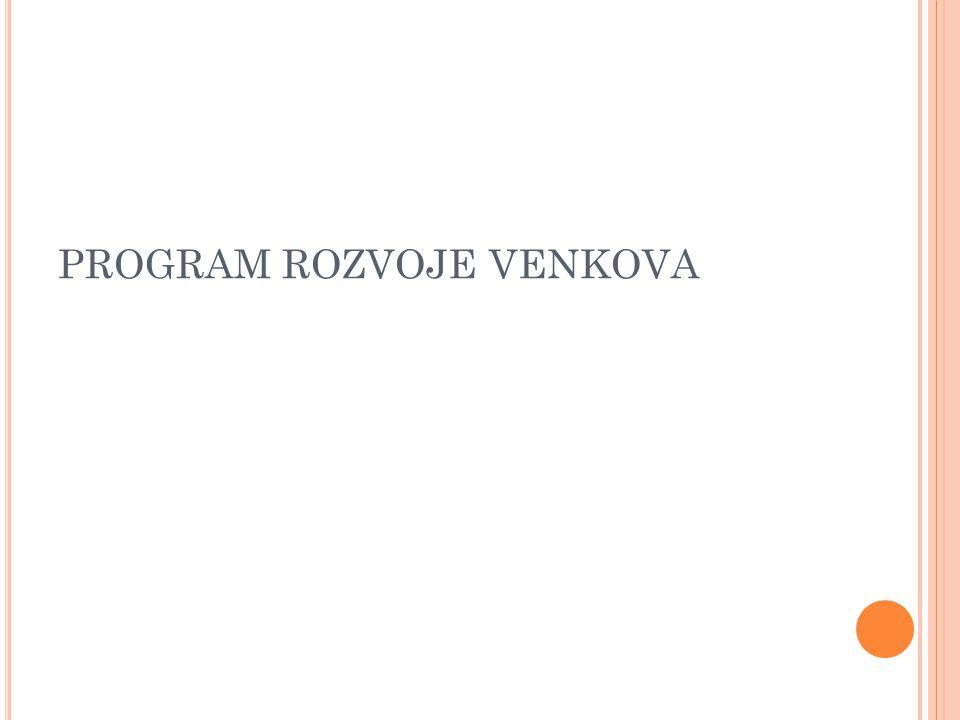 DOTACE Z PRV - Prostudování - Pravidla, kterými se stanovují podmínky pro poskytování dotace na projekty Programu rozvoje venkova pro konkrétní opatření.