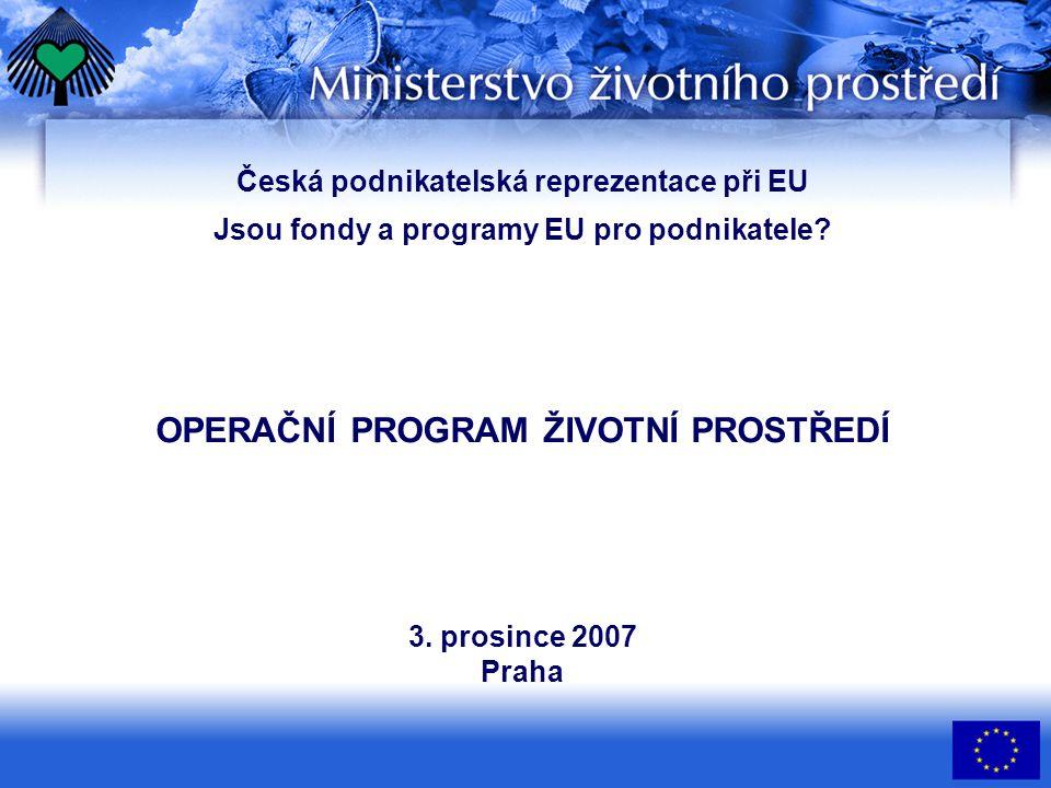 Česká podnikatelská reprezentace při EU Jsou fondy a programy EU pro podnikatele.